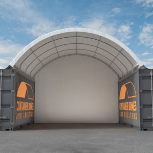 20ft Container Dome Front View