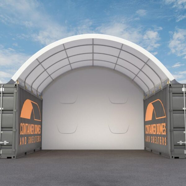 20ft x 20ft Container Dome Front View