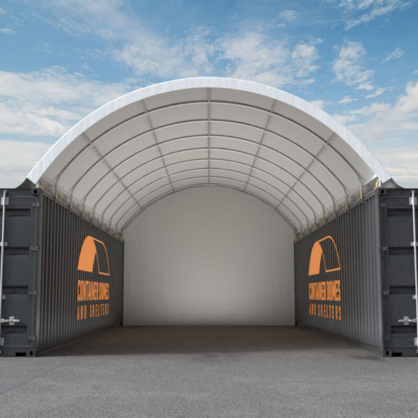 40ft Container Dome Front View