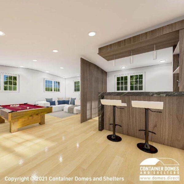 CDS 27m2 Portable Building Interior 2