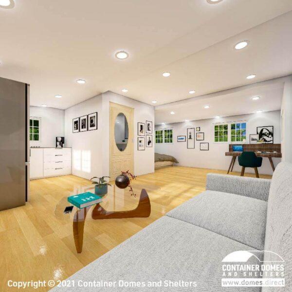 CDS 35m2 Portable Building Interior 1