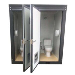 Double Toilet Doors Open
