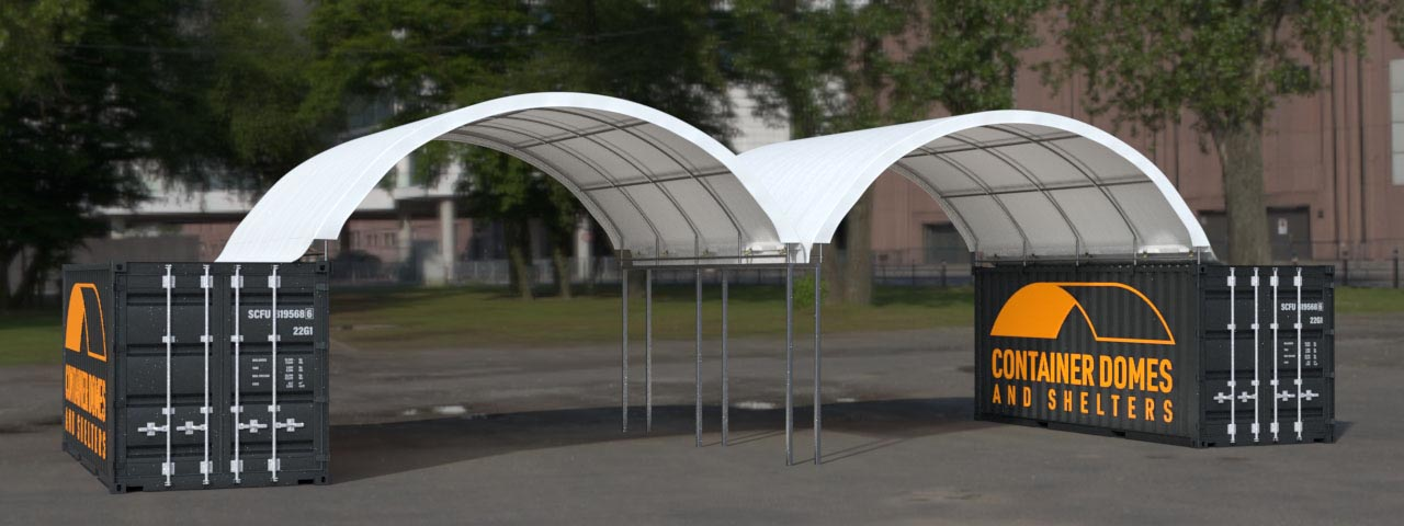 20ft Double shelter with central posts