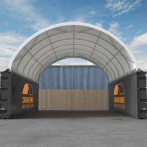 26ft x 40ft Container Dome Front View