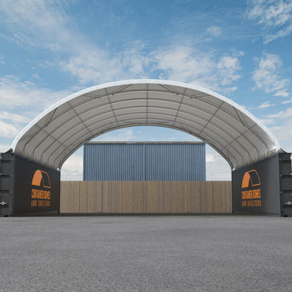 40ft x 40ft Container Dome Front View