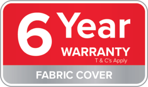 Warranty Badge-6 Year Fabric Cover
