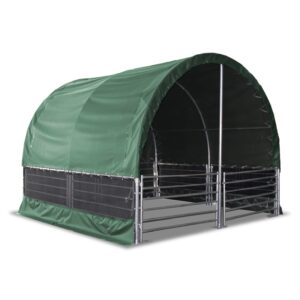 Livestock Shelter 4m x 4m with Net Sides