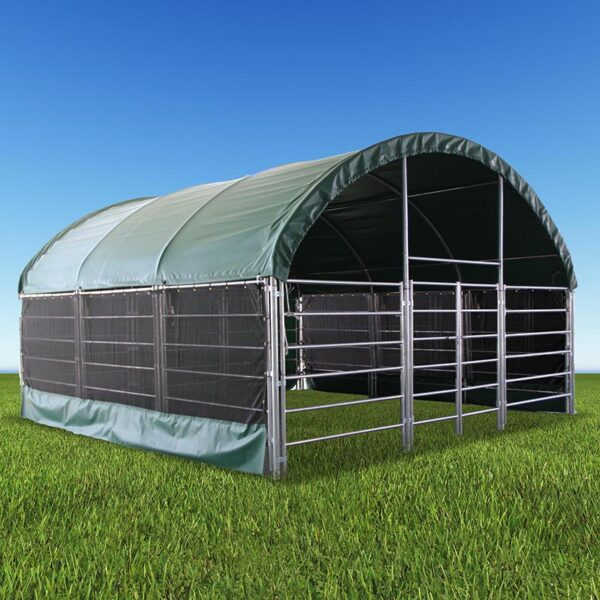 Livestock Shelter 6m x 6m with Net Sides