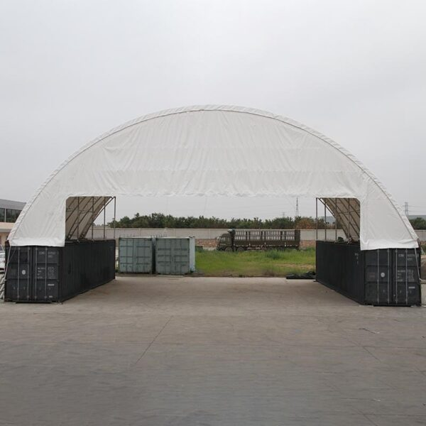 60 x 40 Container Shelter Front