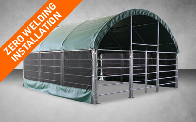 Our Products-Livestock Shelters Zero Welding