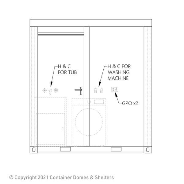 Laundry Room Elevation Drawing