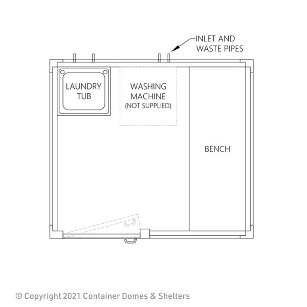 Laundry Room Plan View Drawing